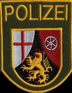 Polizei-Aufnäher gestickt