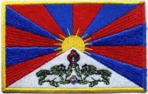 Flagge Tibets - Aufnäher 10cm x 6.4cm