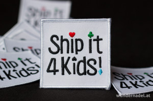 Aufnäher von Ship it 4 Kids - vorne